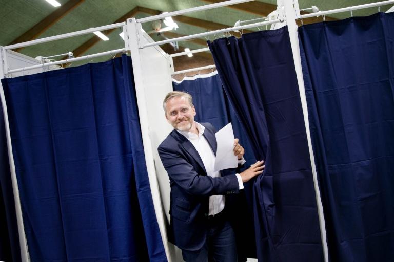 Anders Samuelsen Stemmer i Stensballehallen i Horsens